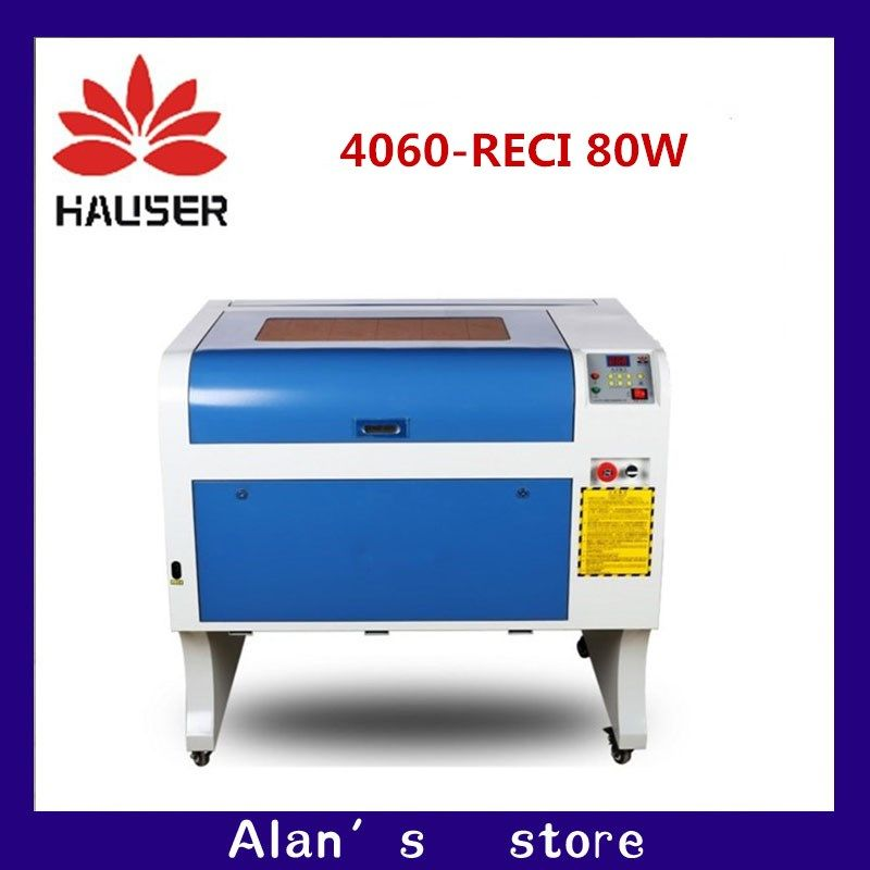 HCZ co2 laser CNC RECI 80W 4060 laser engraving cutter  marking machine  mini laser engraver cnc router laser head diy