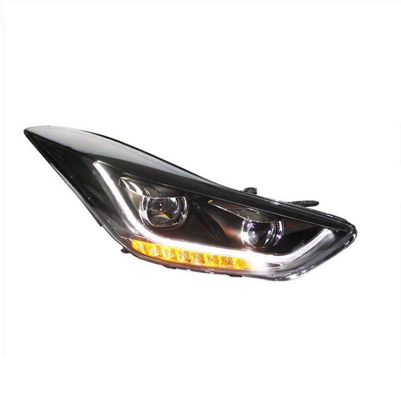 Turn Signal Automobiles Drl Exterior Assembly Daytime Running Led Lamp Car <font><b>Lighting</b></font> Headlights Rear Lights For Hyundai Elantra