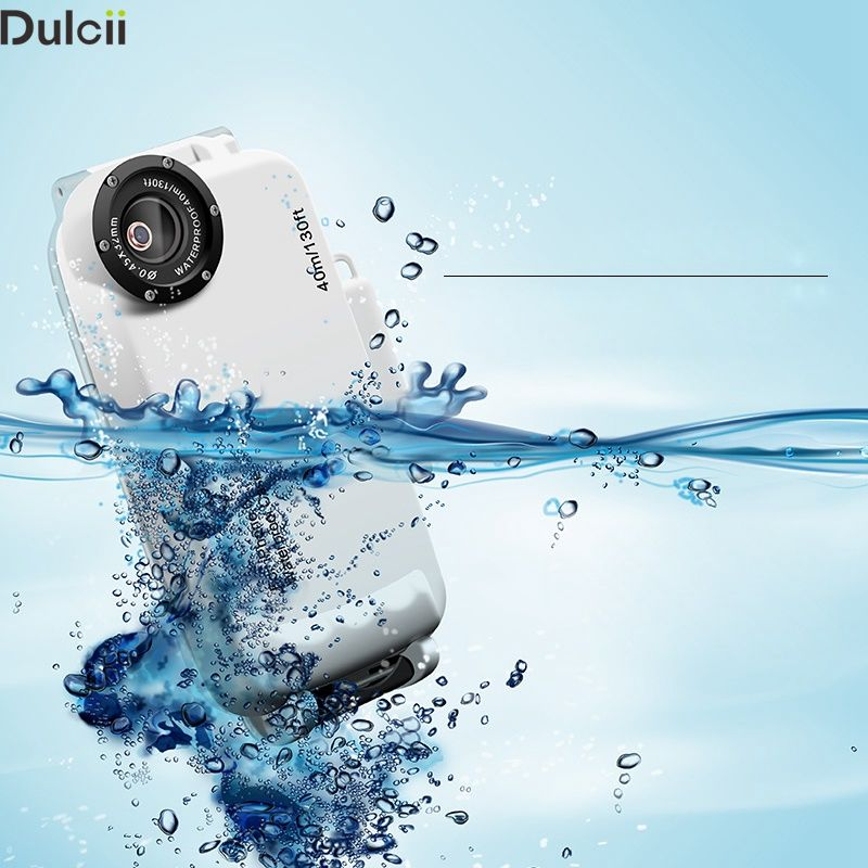 Dulcii Waterproof Case for iPhone 7 4.7 inch Shell MEIKON 40m/130ft IPX8 Underwater Waterproof Case Diving Cover for iPhone7 Bag