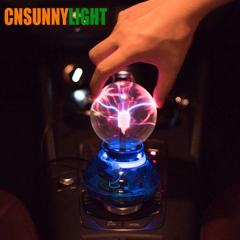 <font><b>CNSUNNYLIGHT</b></font> Car Music Sound Control LED USB Plasma Ball Electrostatic Lamp Decoration Atmosphere DJ Lights Party Magic Lighting