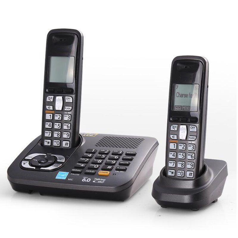 Système sans fil Dect Téléphones Avec Réponse Call ID Maison Sans Fil Station De Base Sans Fil Fixe Téléphone Pour Home Office Noir