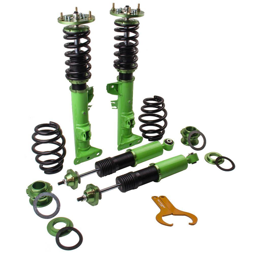 Racing Coilover Coilovers Suspension for BMW 3 Series E36 316 318i 323i 325i 328i M3 Strut Shocks Absorber Kit Green
