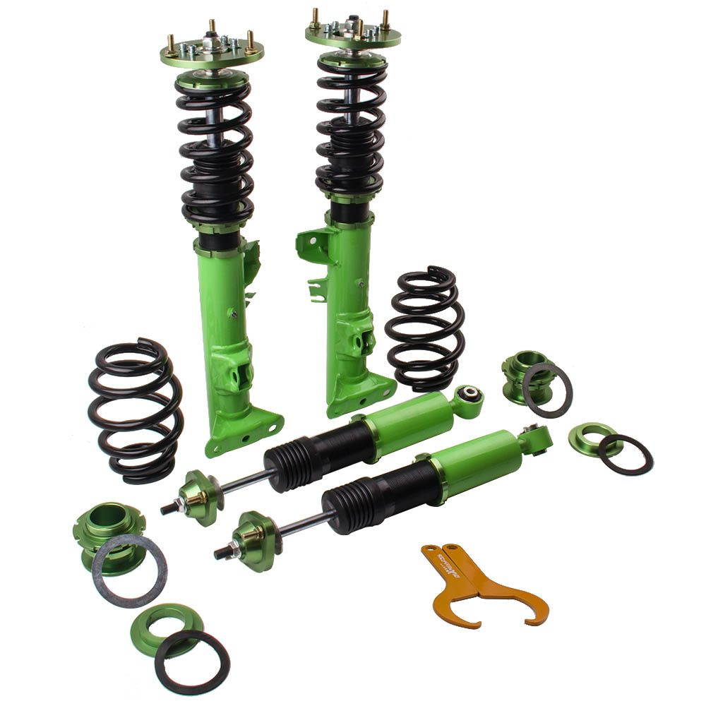 Racing Coilover Coilovers Suspension for BMW 3 Series E36 316 318i 323i 325i 328i M3 Strut Shocks Absorber Kit Green