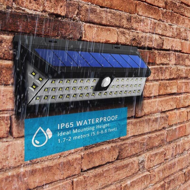 3 Mode 66/90 LED Solar Gardent Light IP65 Waterproof Solar Wall Lamp Wide Angle PIR Motion Sensor For Garage/Swimming Pool