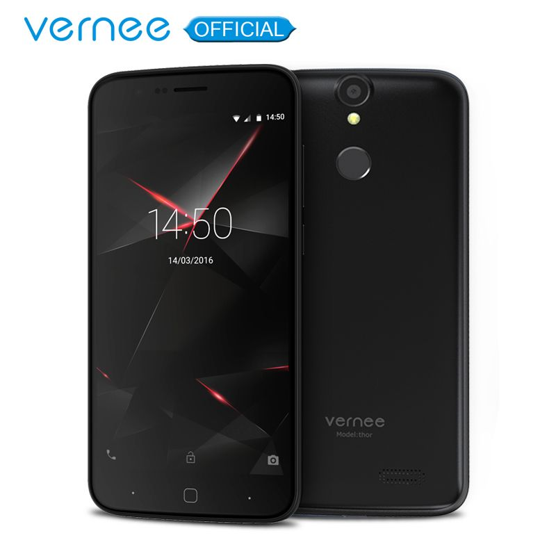 Vernee Thor 5 HD 4G LTE Mobile Phone MTK6753 Octa-Core Android 7.0 Cell Phones 3G RAM 16G ROM Dual SIM Fingerprint Smartphone