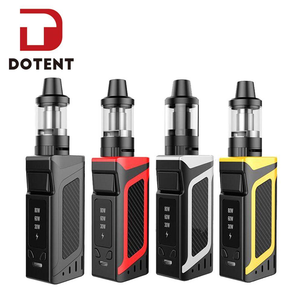 DOTENT Vapor Smoke Shisha Pen Hookah 80W Starter Kit 2000mAh Battery 510 Metal Body 3.5ml Atomizer Electronic Cigarette Vape