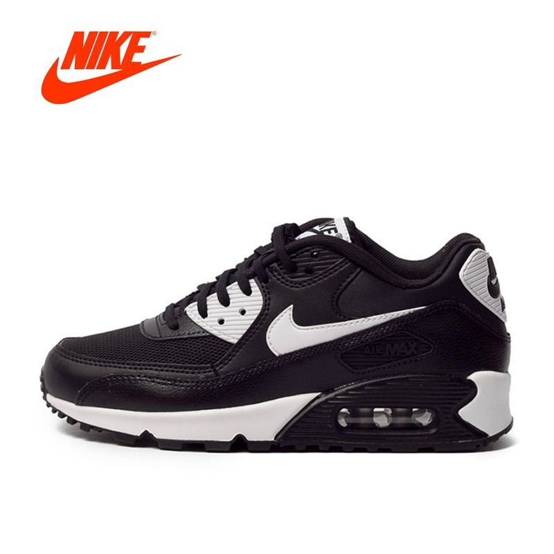 Authentic NIKE AIR MAX 90 ESSENTIAL Breathable Women's Running Shoes Sneakers Tennis Shoes Women Winter Running Shoes Classic