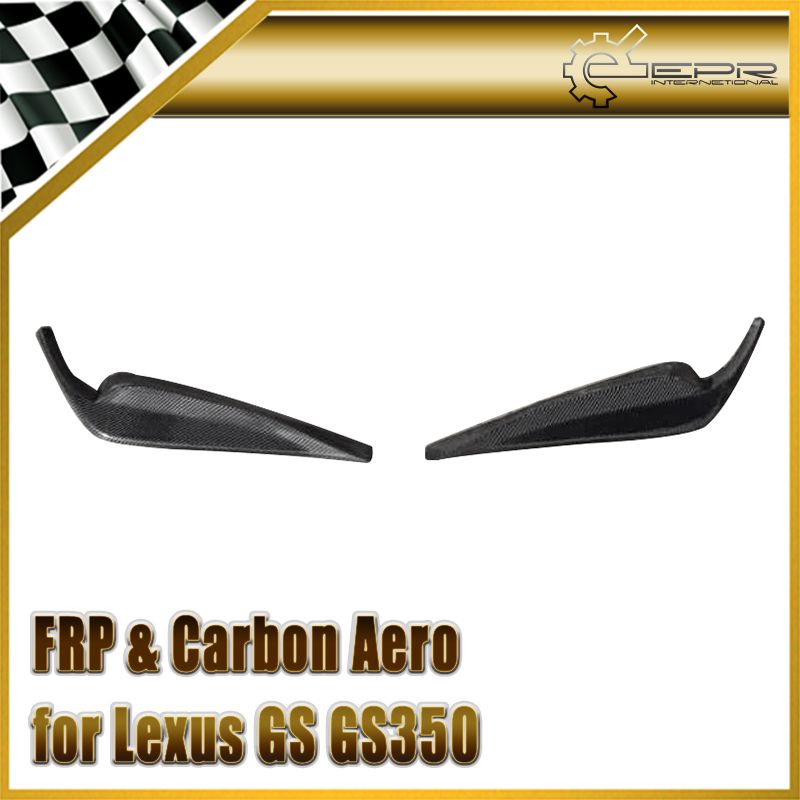 Car-styling For Lexus GS GS350 F-Sport 13-15 L10 L15 AWL10 L15 Carbon Fiber JDM Style Front Lip 2pcs Glossy Fibre Auto Body Kit