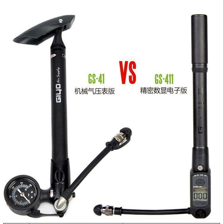GIYO GS41 GS411 tube de fourche avant de montagne électronique numérique multi-fonctionnelle haute pression pompe outils de réparation de vélo 300 psi
