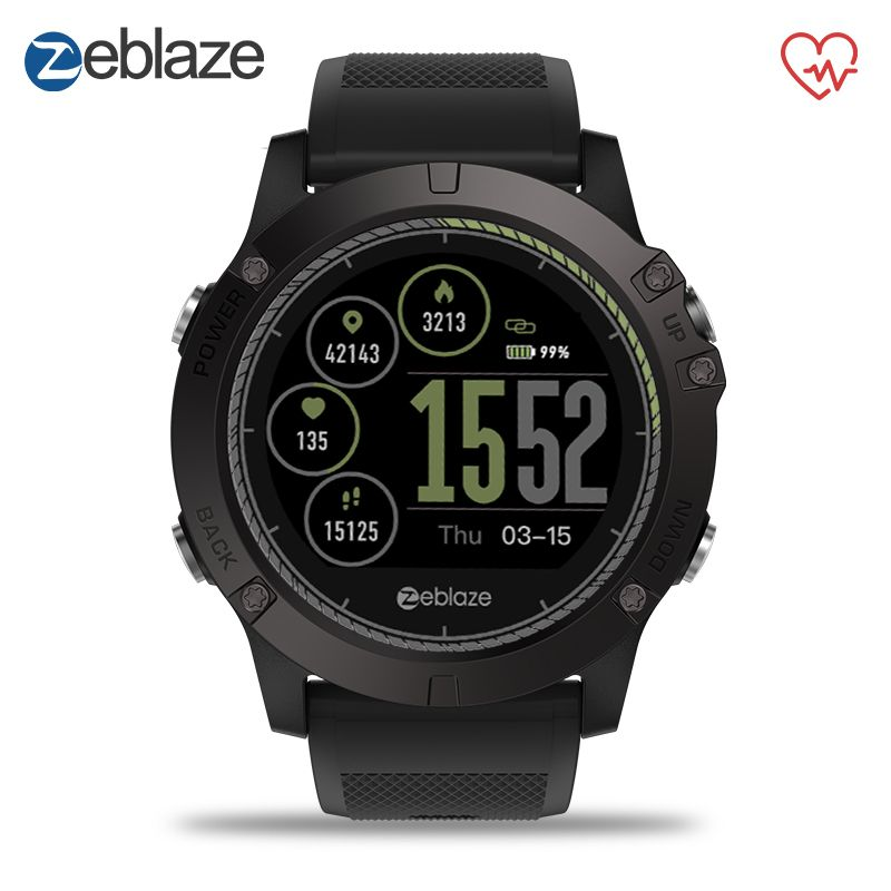 New Zeblaze VIBE 3 HR Smart Watch 1.22inch IPS Round Screen Support Heart Rate Monitor Pedometer SmartWatch For IOS Android