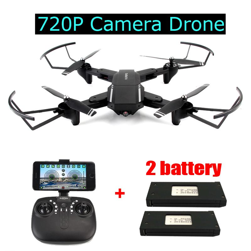 Foldable RC Drone with 2MP Wide-angle 720P Camera Altitude Hold WIFI FPV Quadcopter RTF Helicopter Toys Gifts for Man VS H37