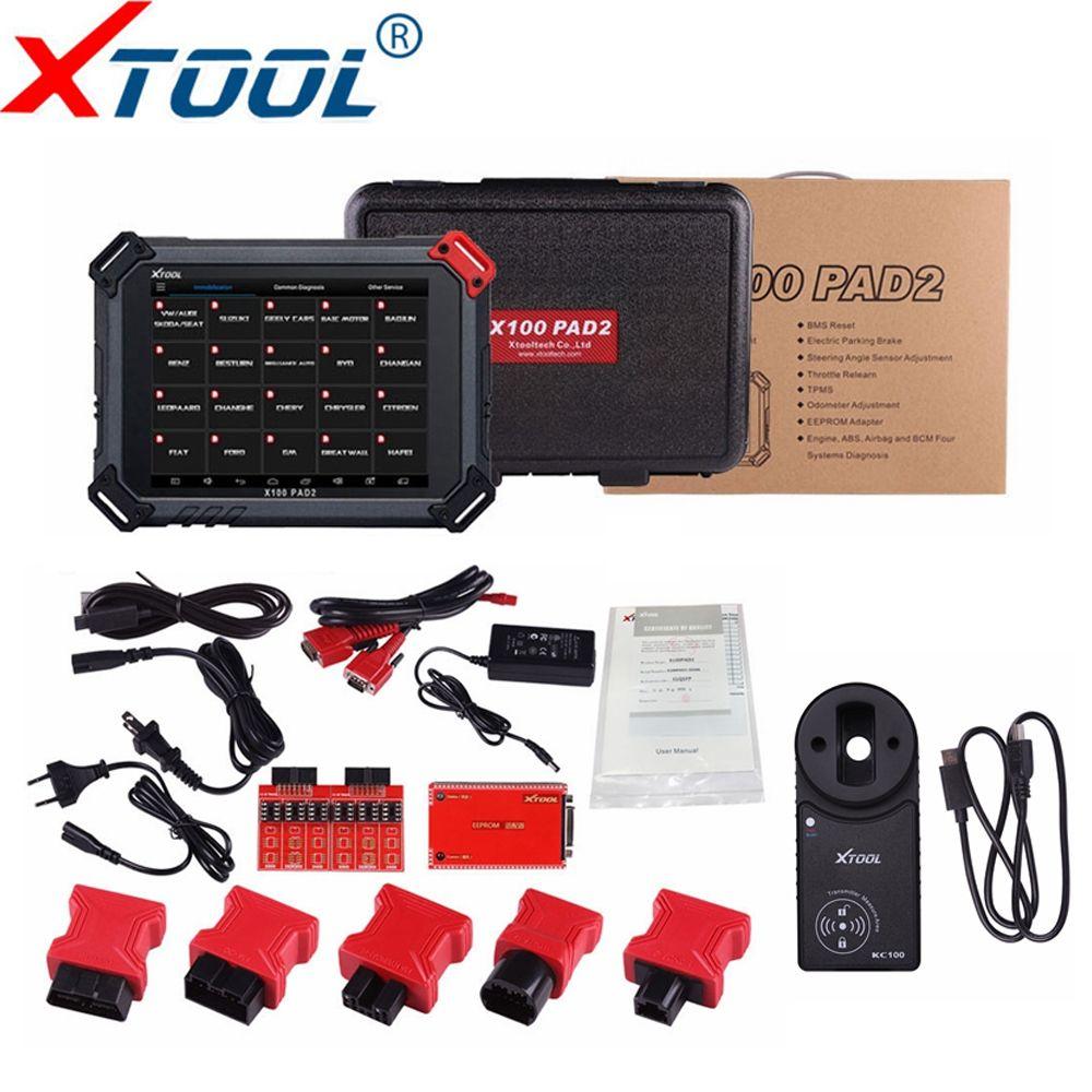 Original XTOOL X100 Pad2 Pro Auto Schlüssel Programmierer Mit KC100 Für VW 4th 5th Pro PAD 2 EPB EPS OBD 2 kilometerzähler einstellung X100 PAD2