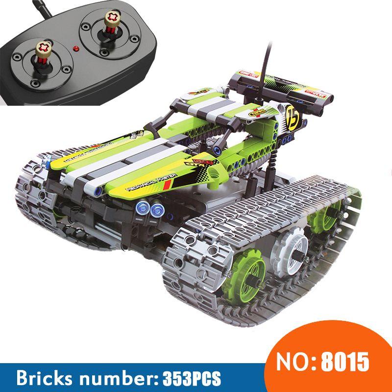 NOUVEAU 8015 353 pcs Technique La Piste RC À Distance-contrôle Racer Building Block enfants de jouet cadeau d'anniversaire compatible avec 42065
