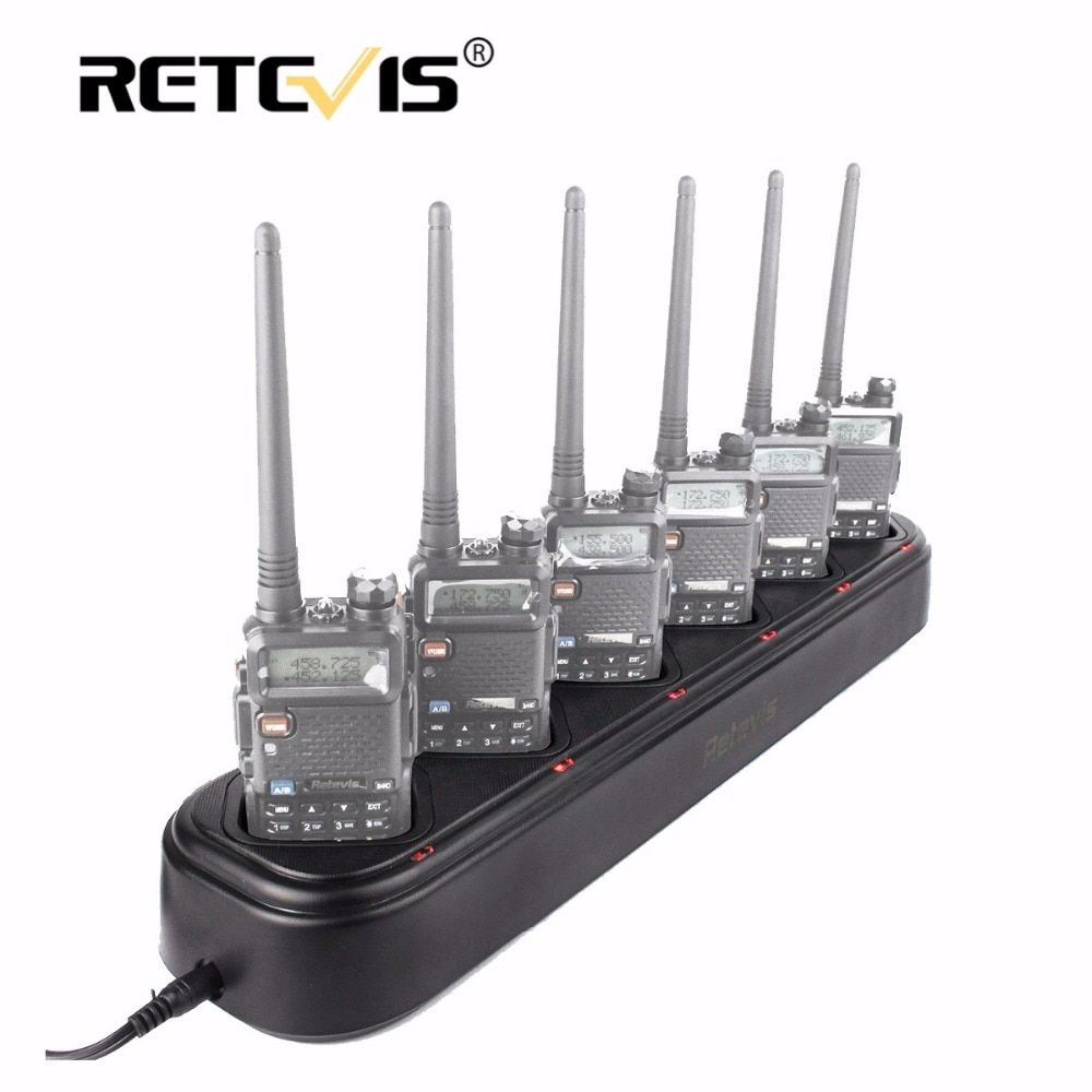 New Retevis R-611 Rapid Safe Six-Way Charger Single-Row Radio/Battery Charger For Baofeng UV-5R UV5R Walkie Talkie Retevis RT-5R