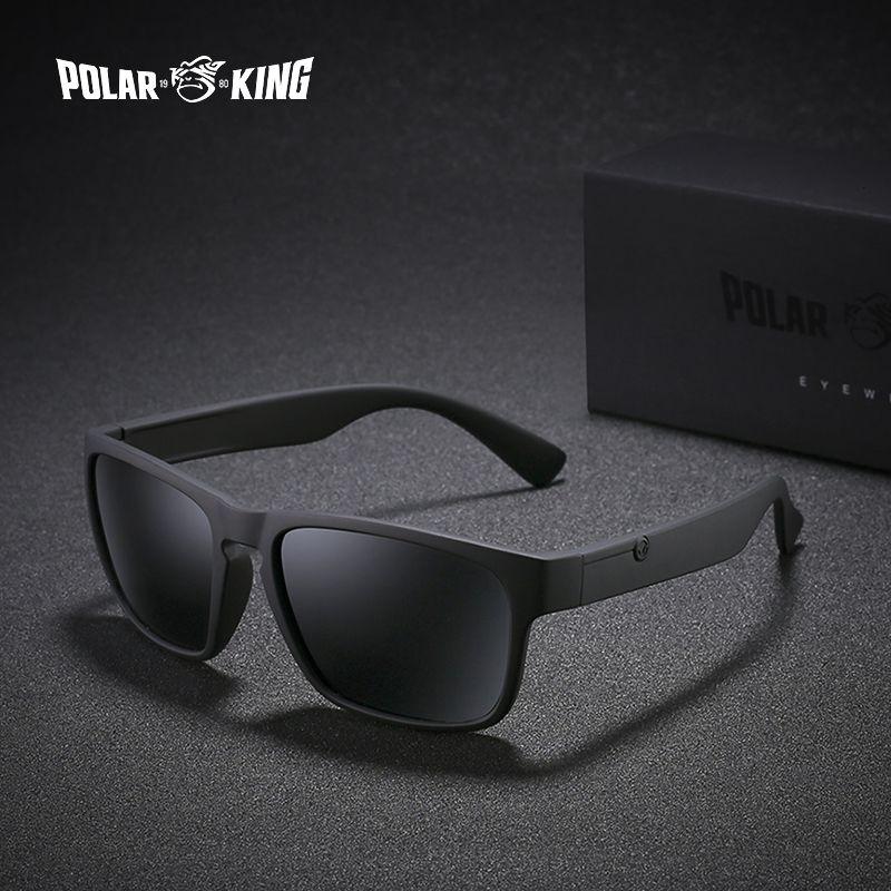POLARKING Brand Polarized Sunglasses For Men Plastic Oculos de sol Men's Fashion Square Driving Eyewear Travel Sun Glasses
