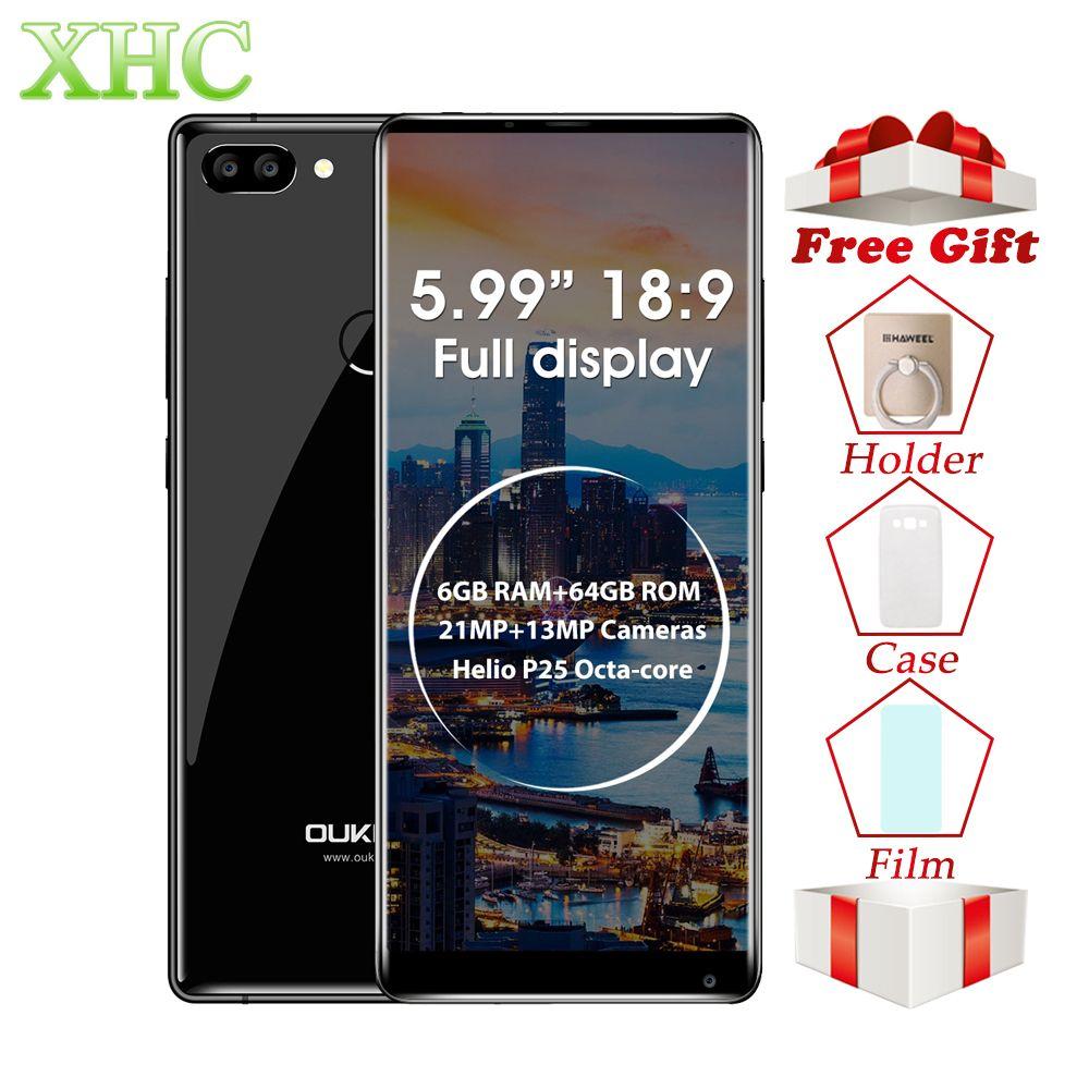OUKITEL MIX 2 5,99 zoll Smartphones 6 gb + 64 gb Dual Zurück Kameras Fingerprint ID Android 7.0 Octa Core LTE 4g Dual SIM Handy