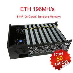 Pas cher Plate-Forme Minière Machine Antminer 8 NP106 Cartes 1600 W ETH 196MH/s ZEC 2500 Blockchain Win10 Plug And Play Samsung Mémoire Bitcoin