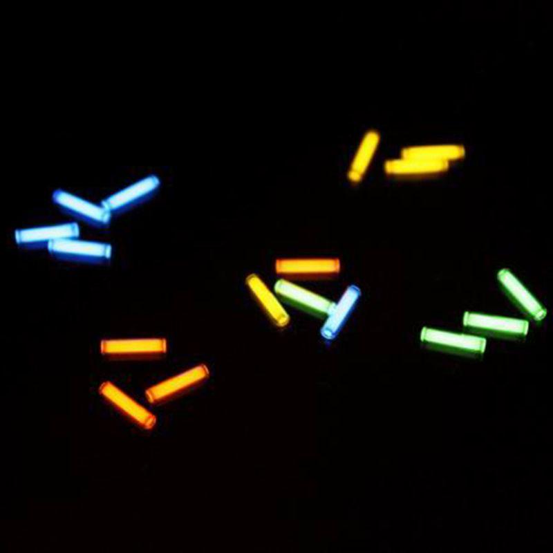 1pc 1.5mm*6mm Automatic light 25 years tritium keychain key ring fluorescent tube lifesaving emergency lights