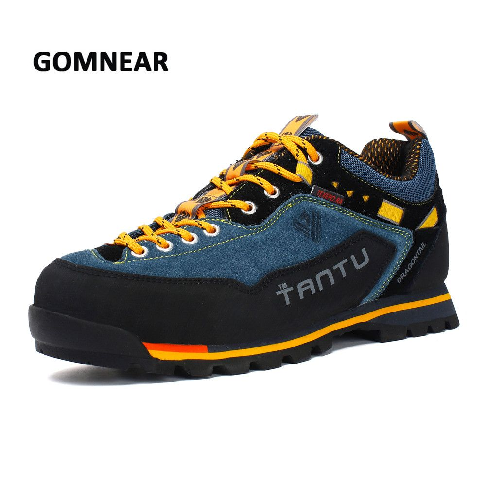 GOMNEAR hommes chaussures de randonnée imperméables respirantes chaussures de sport de Trekking en plein air baskets d'escalade grande taille Mans chaussures de sport