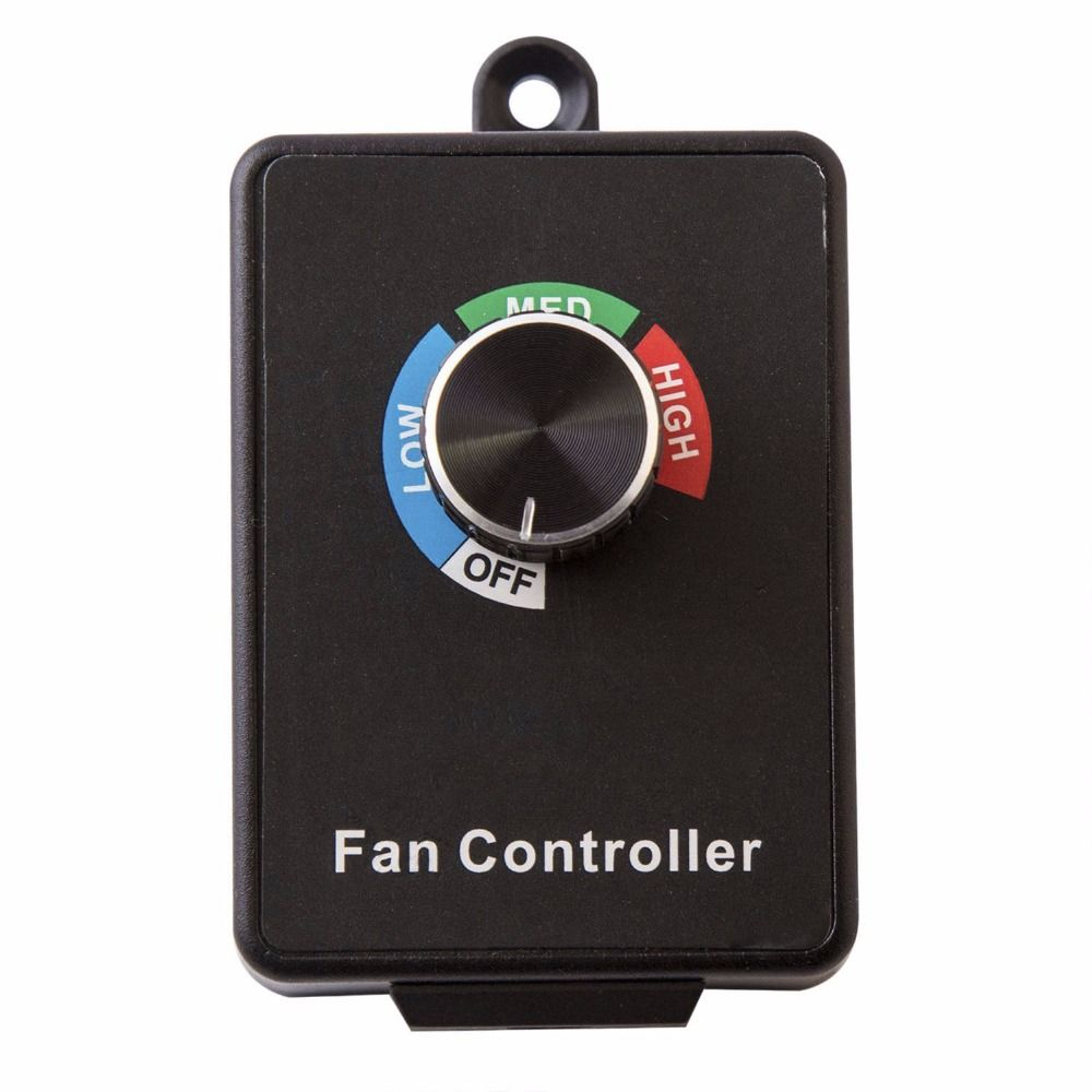 Hon&Guan 600W Variable Dial Router Centrifugal Active Air Inline Duct Exhaust Fan Speed Controller Inline Exhaust 3 Settings