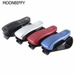 Moonbiffy 1 шт. автомобильный аксессуар солнцезащитный козырек очки для очков ручка для карт Abs Портативный зажим держатель для билетов подставк...