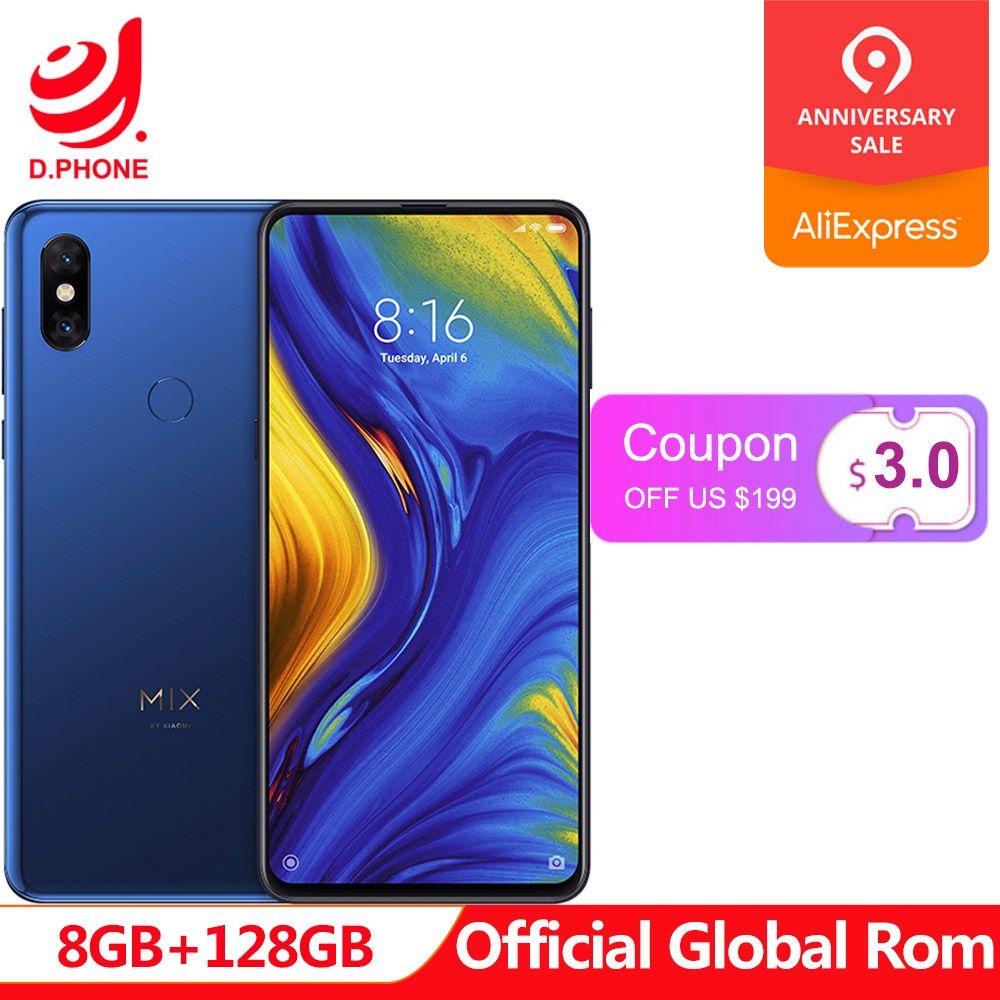 Offizielle Globale Rom Xiao mi mi mi x 3 8 GB Ram 128 GB Rom Snapdragon 845 Octa Core 6,39 19,5: 9 Qi Wireless Charging Smartphone