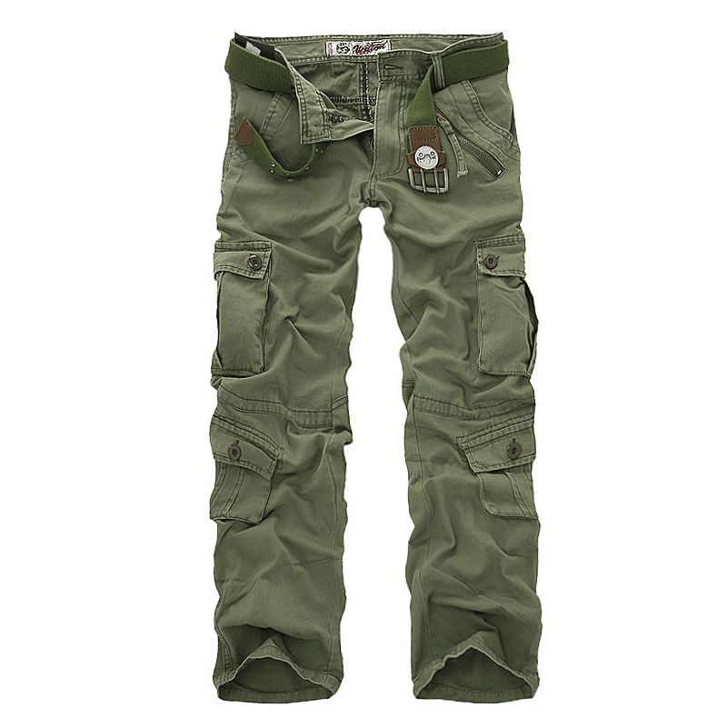 New 2018 Men's Cargo Pants For Men Military Straight Trousers Casual Cotton Camouflage Long Pants Plus Size 28-40