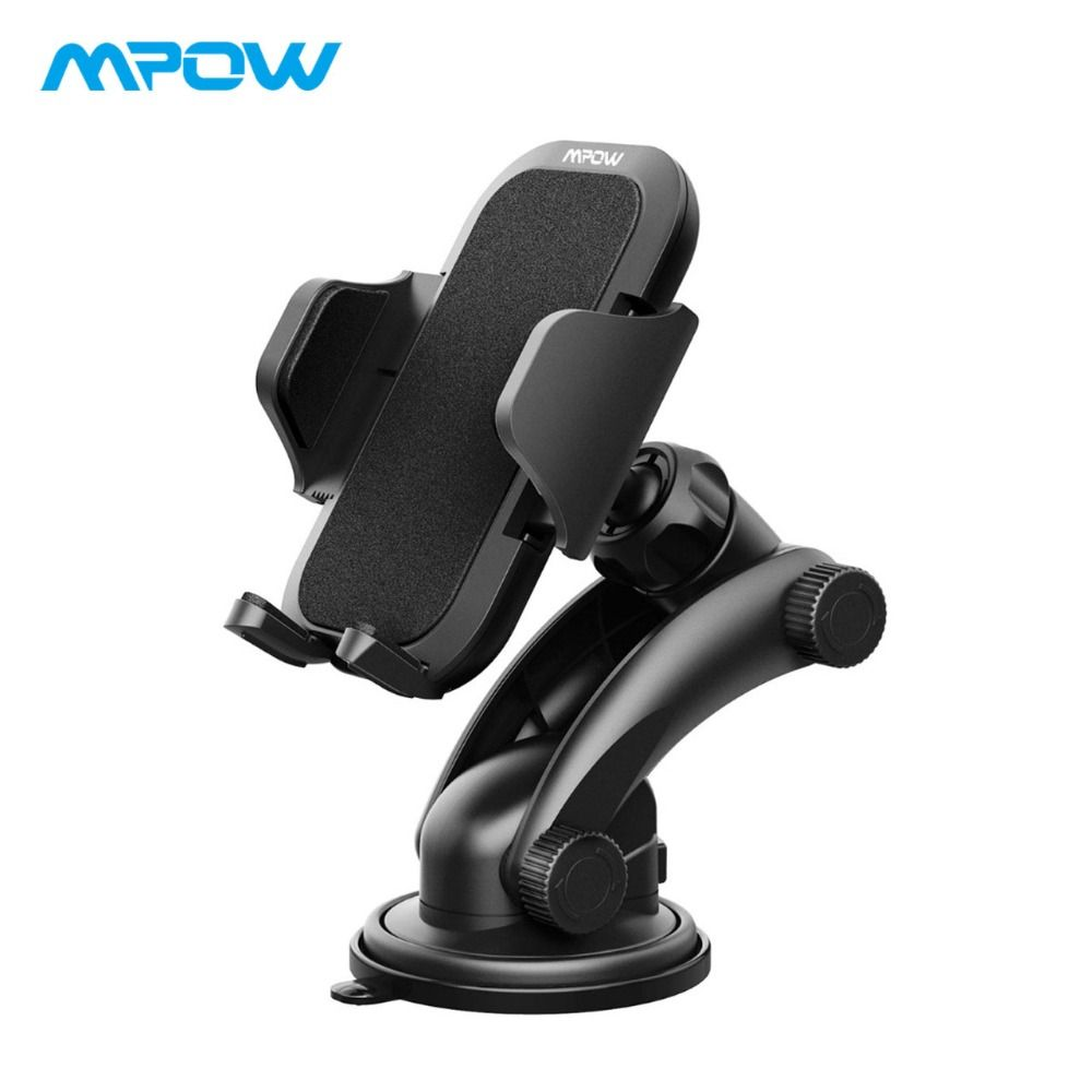 Mpow MCM12 Universal Dashboard GPS Car Mount Adjustable Windshield Holder Cradle With Strong Sticky Gel Pad Car Cellphone Holder