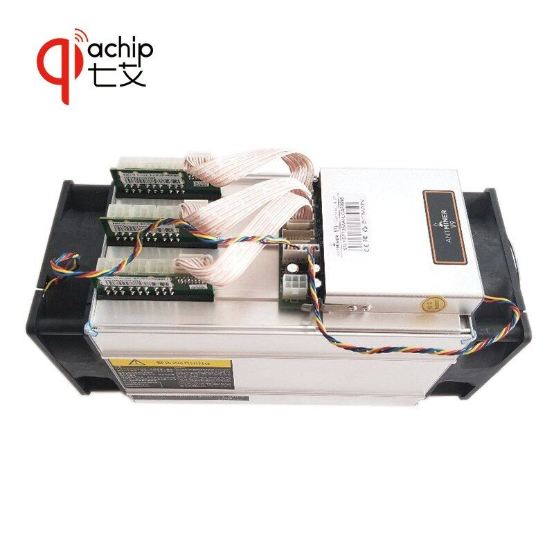QiaChip Brand New AntMiner V9 4T 4th/s Bitcoin Miner Asic Miner Btc Miner Bitcoin Better than S9 M3 E9