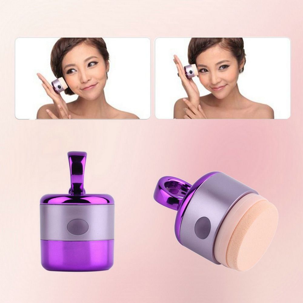 Puff Vibrating Make up Foundation Applicator Tool Boxed With 2 Puffs 3D Electric Smart Foundation Face Powder Vibrator Puff Hot