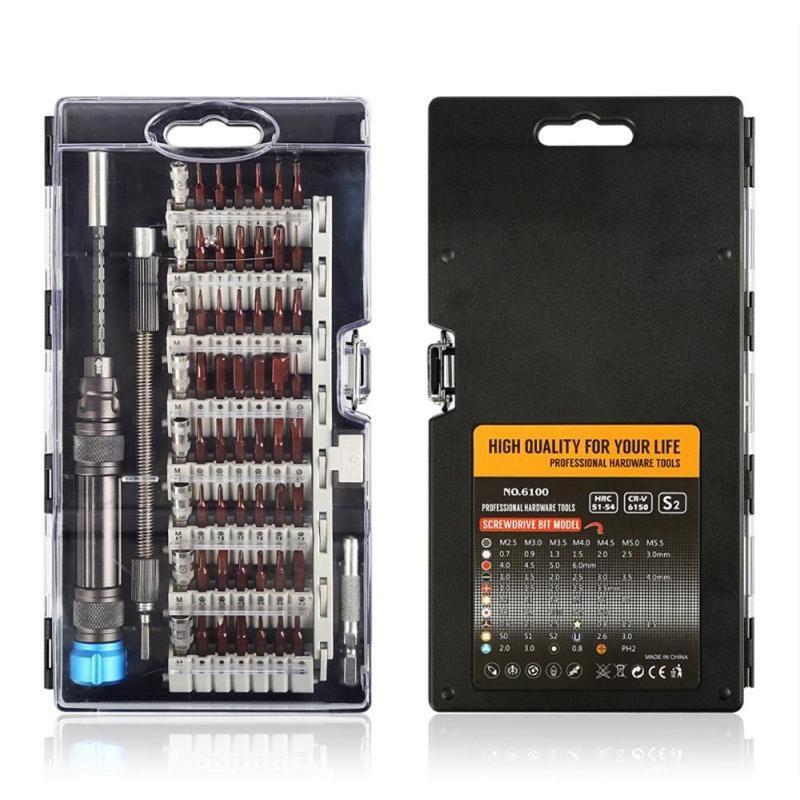 Jeu de embouts de tournevis Torx de précision 61 en 1 tournevis Destornillador Dets réparation électronique multifonction pour téléphone