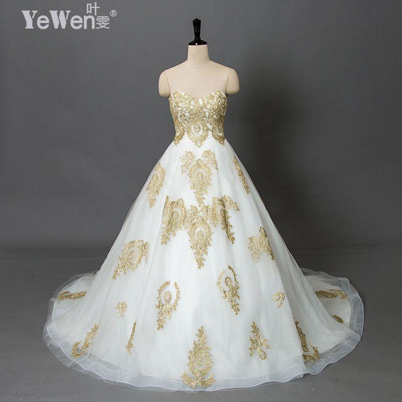 Vintage playa más tamaño oro blanco vestidos de novia Praia vestidos de boda baratos 2018 Encaje vestidos de boda africana