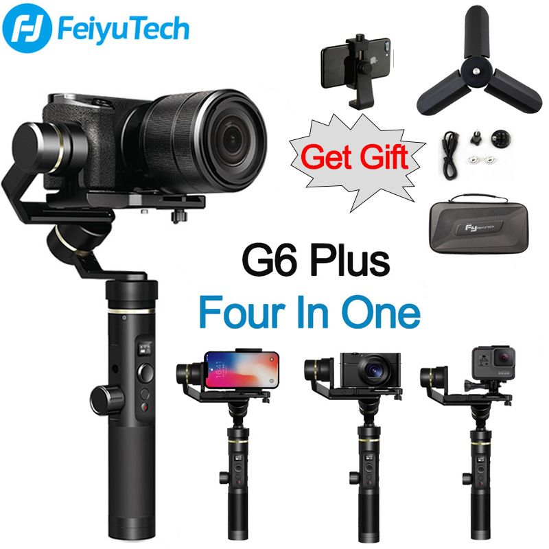 FeiyuTech Feiyu G6 Plus Splashproof Handheld Gimbal 4 in 1 Stabilizer for Smartphone Gopro hero Mirrorless cameras sony as6000