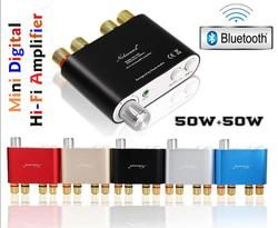 Nobsound NS-10G Mini TPA3116 Bluetooth 4.0 Digital Power Amplifier Stereo Hi Fi Amp Home Audio 50 W * 2 Gratis Pengiriman