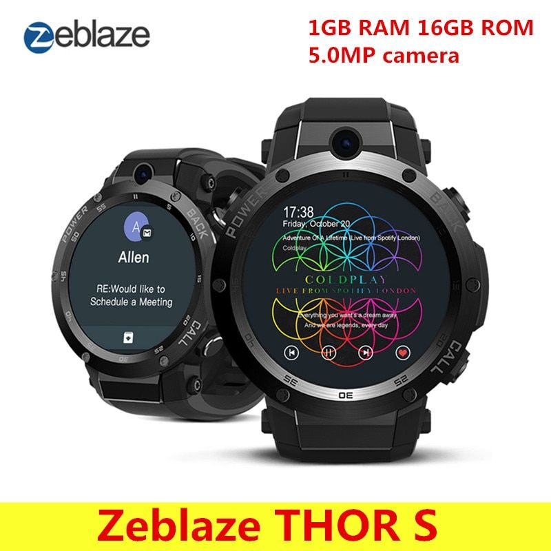Zeblaze THOR S 3G Smart Watch Phone Gps Tracker Android 5.1 Sport Watch 1.39'' MTK6580 1.0GHz Quad Core Bluetooth Smart Watch