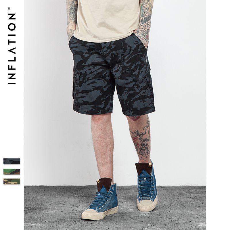 Инфляции | 2016 Brand Для мужчин S Военная униформа брюки-карго Шорты для женщин Новая армия камуфляж Шорты для женщин Для мужчин хлопка свободны...