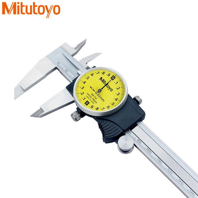 Mitutoyo 505-730/731/745 Dial Calipers 505-732/733 Shock-proof Vernier Caliper 0-150/200/300mm Accuracy 0.01/0.02mm Metric Gauge