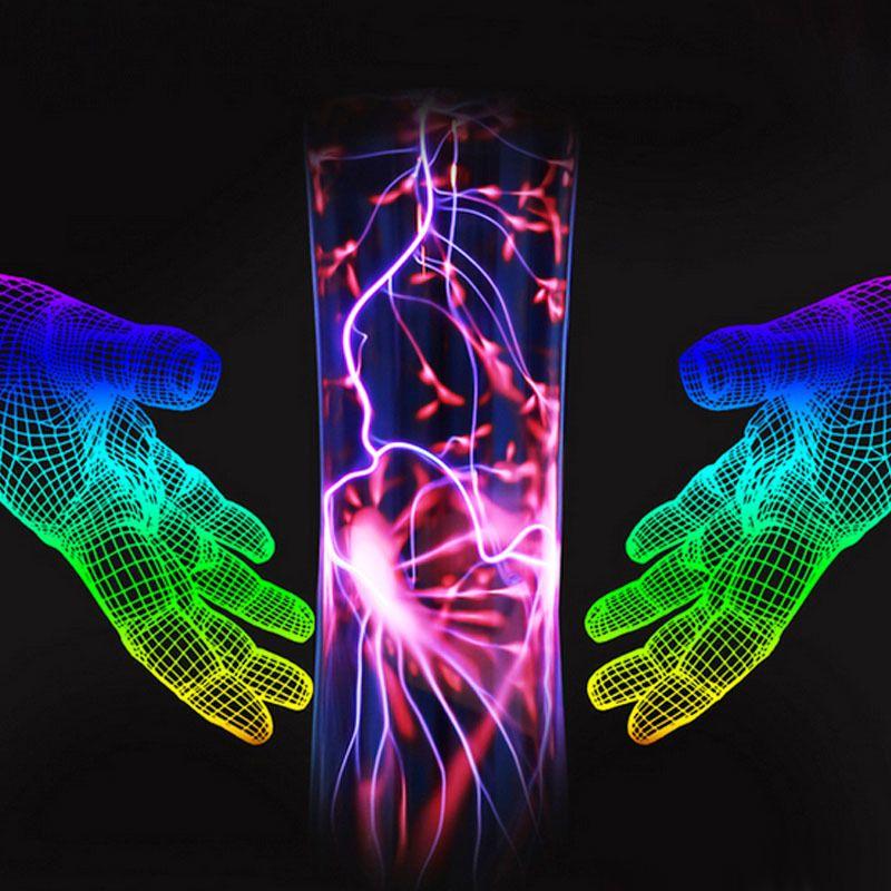 Sanftheit Magie Glas Plasma Ball Licht Lampe Kugel Blitz 10 Watt 110 V-240 V Neue Stil Kristall Für urlaub Schlafzimmer Nacht Lichter