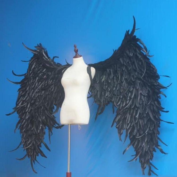 Schwarz Big Winkel Flügel Requisiten DIY Anpassung für Cosplay fotografie Spiel Display Game Party Hochzeit flügel kostüm requisiten