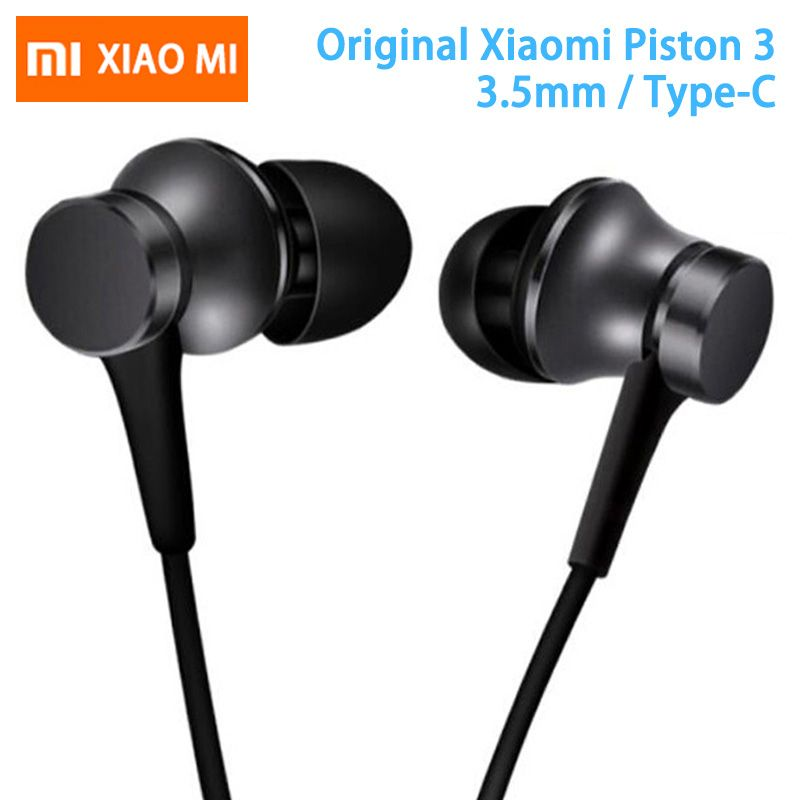 Original Xiaomi Earphone Mi Piston 3 Fresh Version In-Ear with Mic Wire Control for mobile phone xiaomi earphones headset 3.5mm