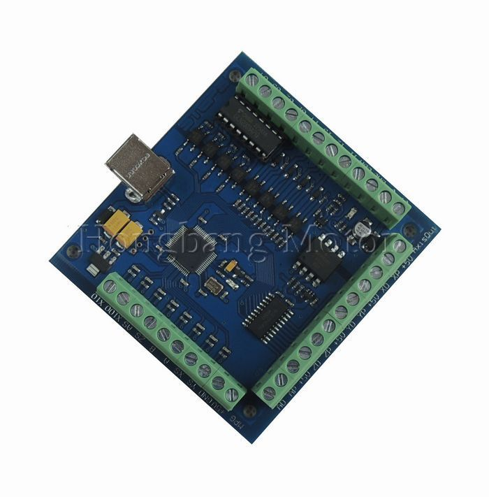 Free shipping CNC MACH3 USB 4 Axis 100KHz USBCNC Smooth Stepper Motion Controller card breakout board for CNC Engraving 12-24V