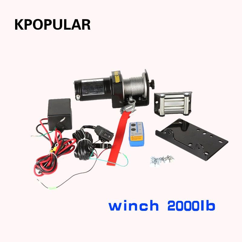 winch car tuning electric winch 2000/3000/4000 lb12v 12m Wire rope ATV winches for Beach buggy boat hoist self-help Rescue