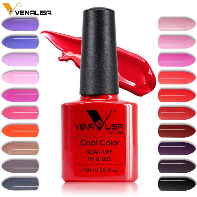 New Free Shipping Nail Art Design Manicure Venalisa 60Color 7.5Ml Soak Off Enamel Gel Polish UV Gel Nail Polish Lacquer Varnish