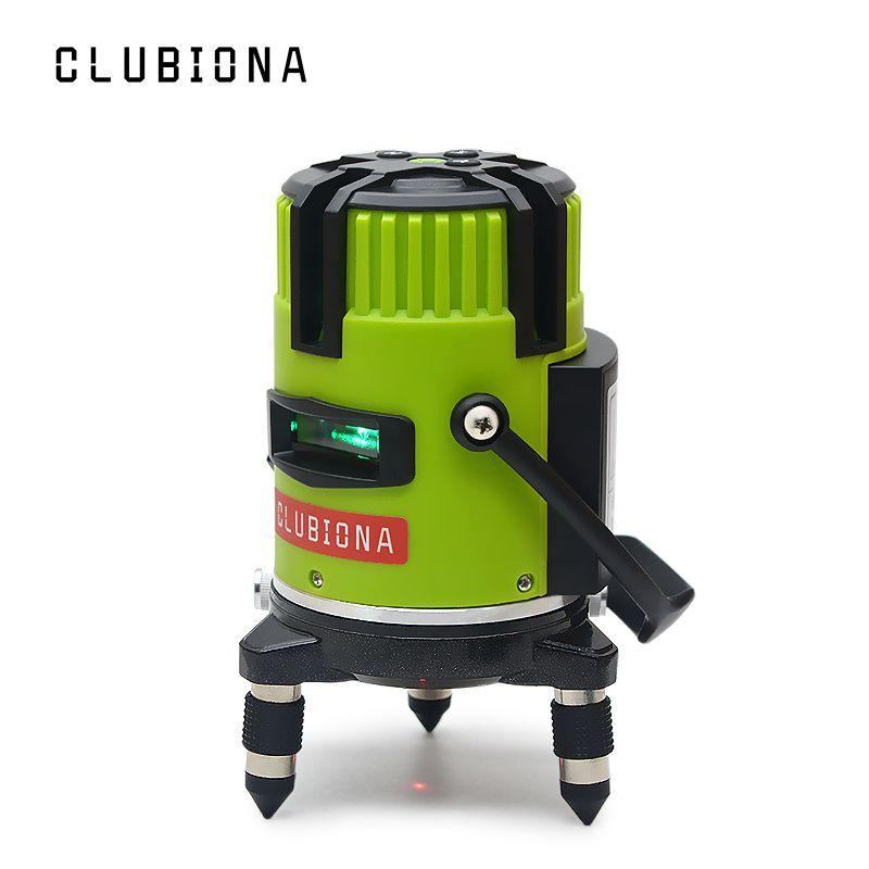 Clubiona inclinaison slash fonctionnelle marque allemande 520nm extérieur et récepteur disponible auto nivellement lignes de faisceau vert niveau laser