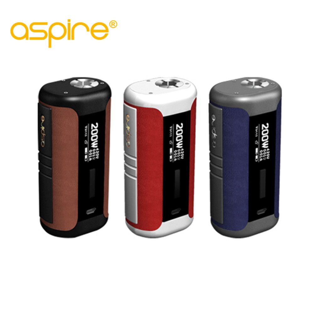 original Aspire Speeder Mod 200W E Cigarette Speeder Box Mod Vape Powered by Dual 18650 Battery Fits Revvo Tank