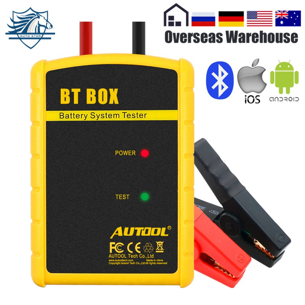 AUTOOL BT BOX Car Battery Tester 12V Digital Analyzer Automotive Tools Cranking charging Test Battery Monitor For Android IOS
