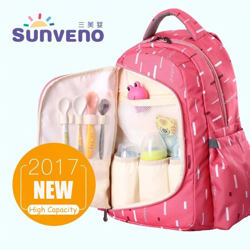 SUNVENO Diaper Bags Maternity Nappy Bag For Mom 20*33*45cm Baby Travel Bag Multifunction Mummy Backpack Organizer Waterproof Bag