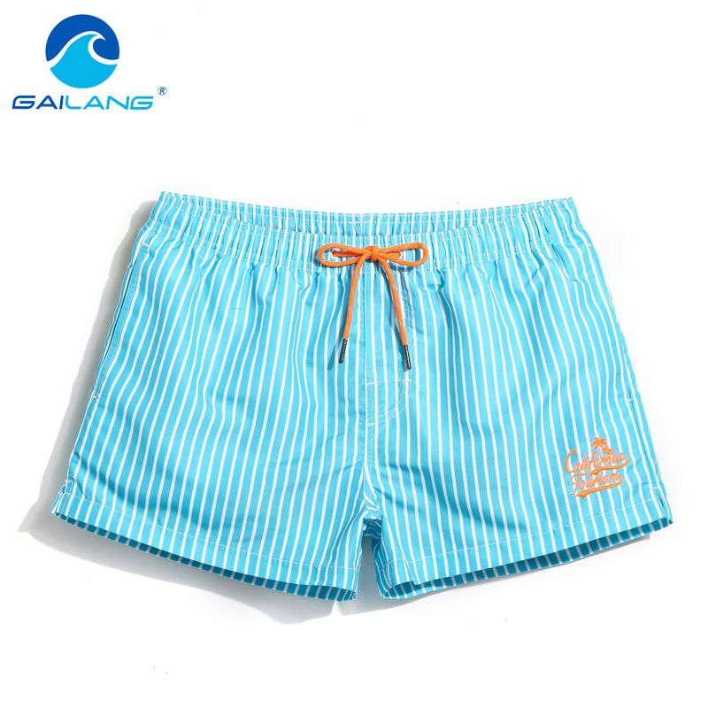 Gailang бренд Для мужчин пляж Пляжные шорты для будущих мам быстрое высыхание Для мужчин Купальники для малышек Купальники Короткие Низ мужско...