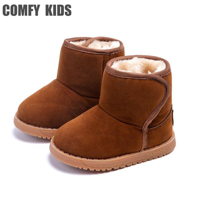 En peluche Bébé Au Chaud Bébé bottes chaussures enfant neige bottes chaussures pour garçons filles hiver bottes de neige confortable enfants bébé enfant en bas âge chaussures