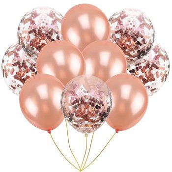 10pcs/pack Inflatable Ball Toy 10 inch Birthday Wedding Pink Rose Gold Balloon Toy Inflatable Cartoon Hat Children Party Toy Hat